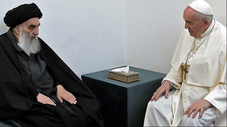 El Papa Francisco se reunió con el gran ayatollah Ali al-Sistani