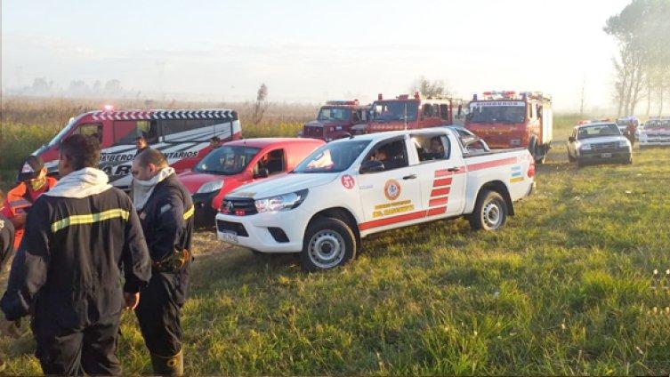 El SNMF informó que fueron controladas las llamas en la localidad bonaerense de Zárate